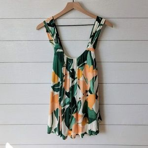 Anthropologie Vanessa Virginia Tropical Swing Tank